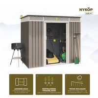 Caseta de jardín metálica Nykop 3,02m2 - 10 años garantía - 213x142x184cm. Cobertizo jardin