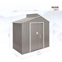 Caseta metal Nuuk 2,84m2 - 10 años de garantía - 220x129x214cm. Cobertizo jardin