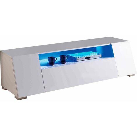 Mueble TV con LED Chlora- 160 x 52 x 43,5 cm - MDF