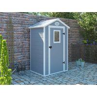 Caseta de jardín Texas - 1.34 m² - 103 x 130 x 203 cm - Gris