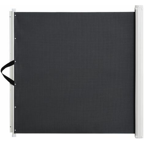Barrière de sécurité barrière animaux rétractable automatique 1,15L x 0,83H m teslin métal gris - Gris