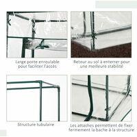 serre de jardin balcon terrasse serre pour tomates 100L x 50l x 150H cm acier PVC imperméable anti-UV transparent vert - Transparent