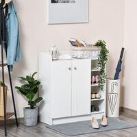 Armoire / etagere / meuble a chaussures très pratique en panneaux de particules blanc - Blanc