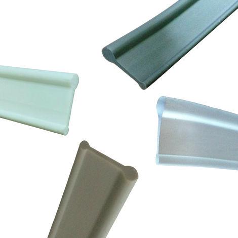 Gris joint d'etancheite pour paroi de douche, Longueur de 1200 mm,pour la porte en verre aucune fuite pour remplacement de porte en verre de douche