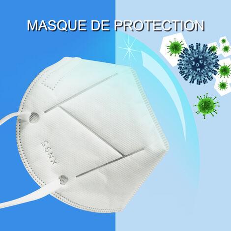 Masques respiratoires KN95 5 boites de dix - 50 masques