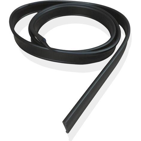 Joint de Pare Baignoire 19 x 1200 mm - Noir - pour Portes Pliantes - en Caoutchouc Souple - étanchéité Parfait - Joint de Douche