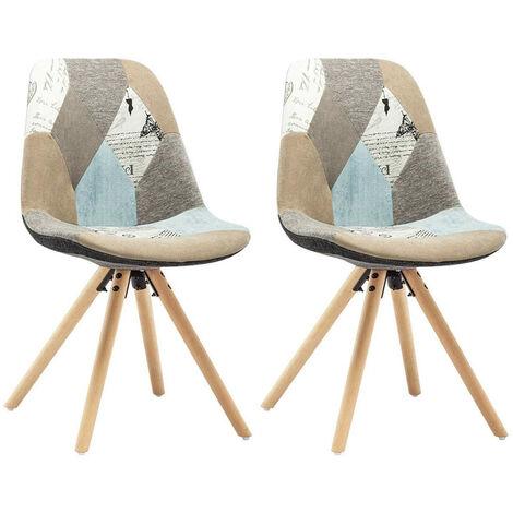 Set 2 Sedie da Pranzo Design Scandinavo in Legno Vari ...