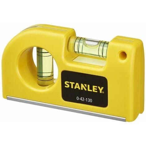 Niveau à Bulle de Poche - 8,7 cm - 2 Fioles - STANLEY, 0-42-130