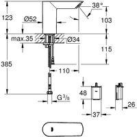 GROHE Mitigeur lavabo Bau Cosmopolitan E infrarouge monofluide