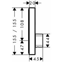 Set de finition pour mitigeur mécanique ShowerSelect encastré avec 2 sorties chromé