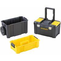 Servante 3 en 1 - Boîte à Outils et Panier Porte-Outil Détachables - Coffre - STANLEY, STST1-80151