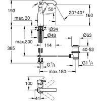 GROHE Essence Mitigeur monocommande Lavabo Taille M 23462001