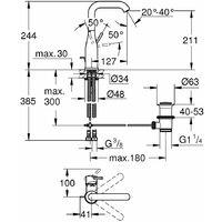 HANSGROHE Mitigeur de cuisine 240 avec douchette extractible 2 jets aspect acier inox Focus M41