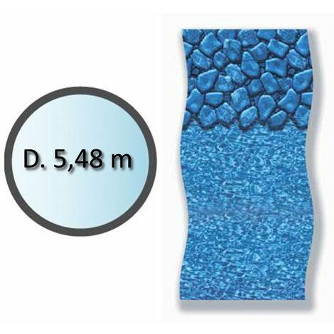 liner boulder forme ronde d.5.48m pour piscine hors sol - li1848sbo - swimline
