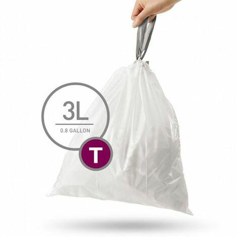 lot de 40 sacs poubelles de 3l - cw0216 - simplehuman