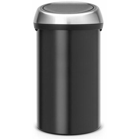 poubelle de cuisine 60l noir mat - 402548 - brabantia