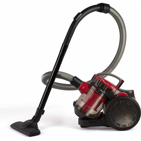aspirateur sans sac aada 78db noir/rouge - doh105r - livoo