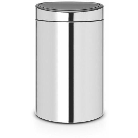 poubelle 40l brillant steel - 112881 - brabantia