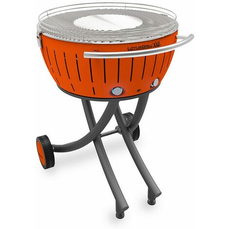 barbecue à charbon portable 60cm orange - lg-or-600 - lotusgrill