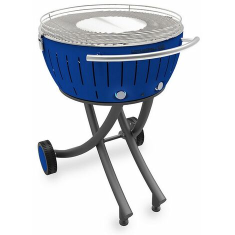 barbecue à charbon portable 60cm bleu - lg-tb-600 - lotusgrill