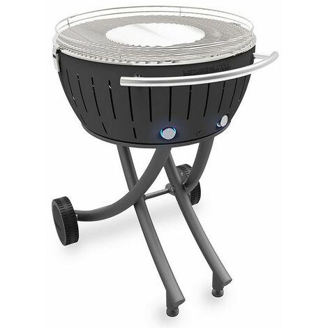 barbecue à charbon portable 60cm gris - lg-an-600 - lotusgrill