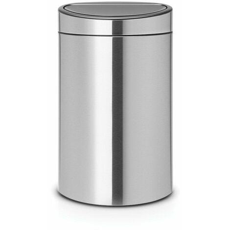 poubelle tri sélectif 23+10l matt steel - 100680 - brabantia