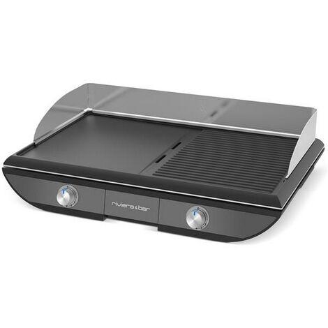 plancha gril électrique 2300w 50x30cm - qpl570 - riviera & bar