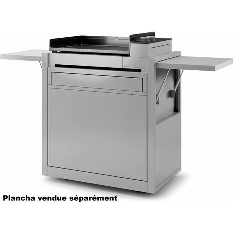 chariot pour plancha inox - chpif60 - forge adour