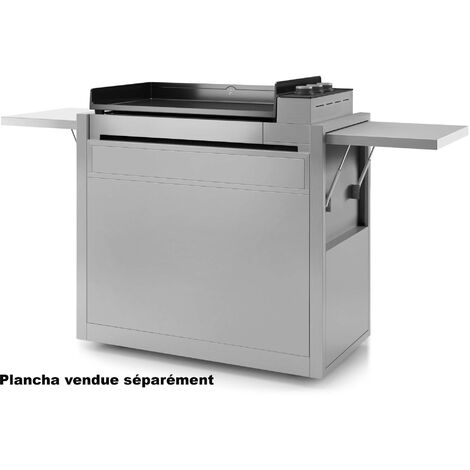 chariot pour plancha inox - chpif751 - forge adour