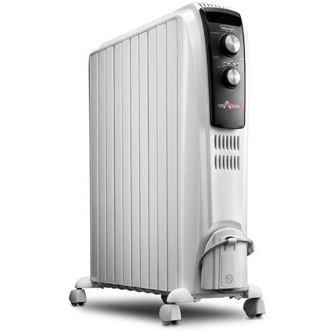radiateur à bain d'huile 2500w blanc - trd41025 - delonghi