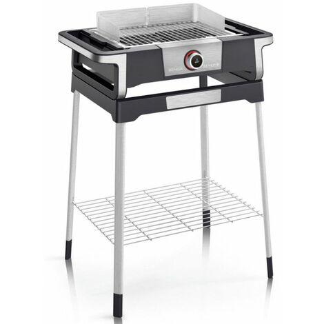 barbecue électrique sur pieds 3000w noir/inox - pg8118 - severin