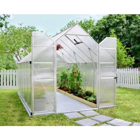 serre de jardin 8.9m² argent - 701944 - palram