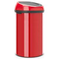 poubelle de cuisine 60l rouge - 402487 - brabantia