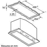 groupe filtrant 52cm 64db 730m3/h inox - d55ml66n1 - neff