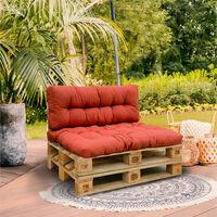 set 2 coussins d'extérieur terracotta - rioute - red deco