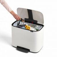 poubelle à pédale 36l blanc - 121388 - brabantia