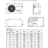 pompe à chaleur de piscine 11kw mono - 81522 - hayward