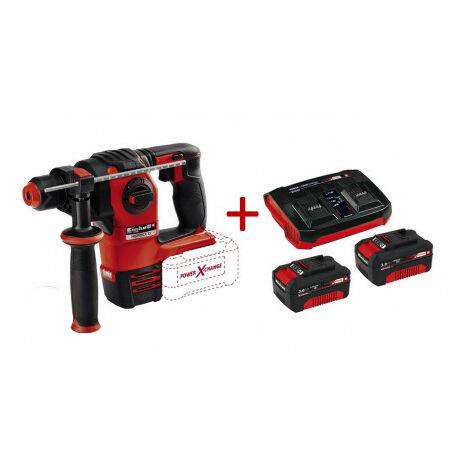 Pack Martillo perforador HEROCCO  + Starter Kit 2 baterias de 3.0Ah con cargador doble Einhell