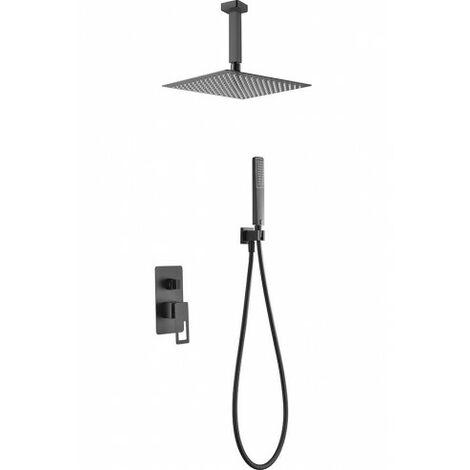 Conjunto ducha empotrado Estocolmo negro mate Imex