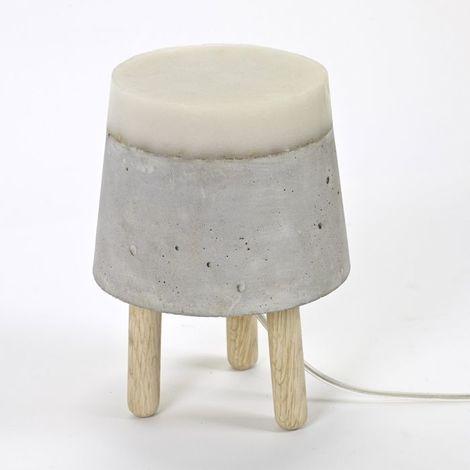 Lampe à poser design Beton SERAX - Gris - Taille 1 - Intérieur - Gris