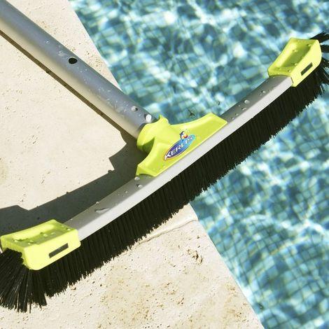 Balai piscine Multi Surface  XPRO 56cm avec manche téléscopique 480cm KERLIS - Vert - Extérieur - Extensible - Vert