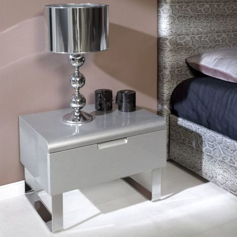 Table de chevet Contempo 60x39 1 tiroir par Zendart Sélection - Moka - Intérieur - Moka