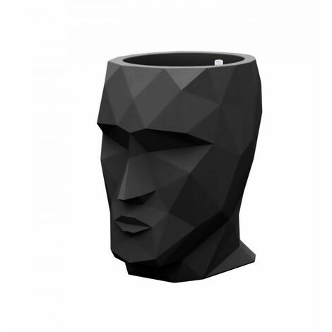 Pot design VONDOM Adan 42 cm - Noir - Extérieur - Relevable - Noir