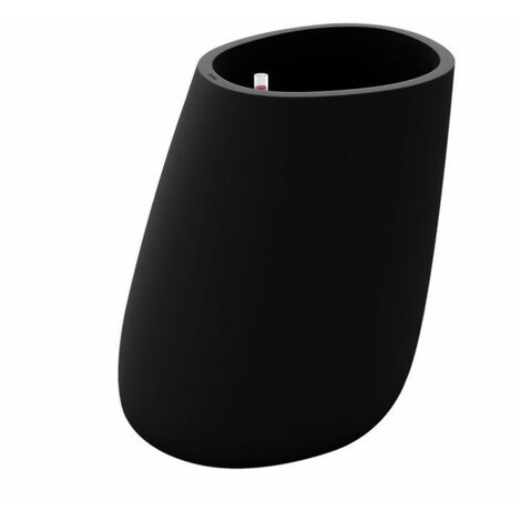 Pot design VONDOM Stone - Noir - Taille 3 - Extérieur - Noir