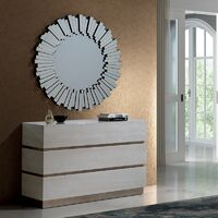 Miroir design en forme de soleil 100 x 100 cm Sunny par Zendart Sélection - Argent - Intérieur - Argent