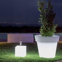 Pot fleur lumineux GEMMA LED RGB avec batterie MONACIS - Led RGB - Taille 1 - Utilisable en Intérieur et Extérieur. - Led RGB