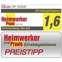 Güde Oberfräse OF 1200 E mit Oberfräsentisch Fräsmaschine Set mit Zubehör Fräse