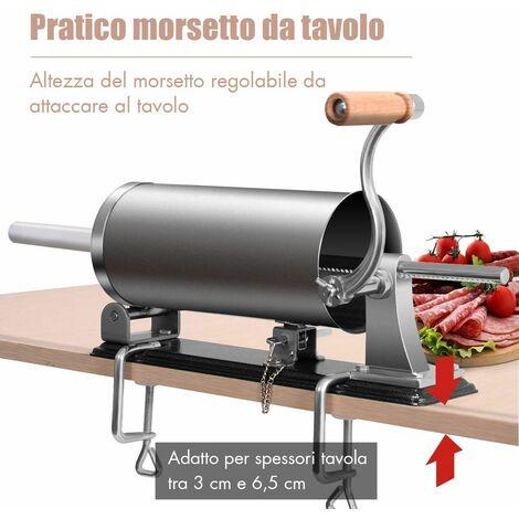 Insaccatrice Manuale 5L per Salsicce Macchina Professionale in Acciaio Inox