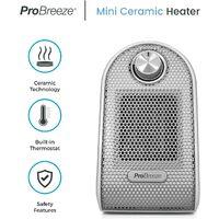 Mini Radiateur Soufflant en Céramique PTC - Chauffage d'appoint portable et compact pour bureaux et tables - Blanc Pro Breeze
