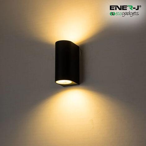 Up-Down GU10 Fitting Wall Light Black Husing